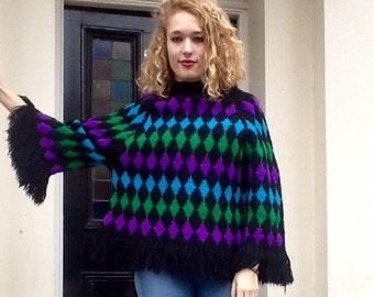 Vintage colourful jumper