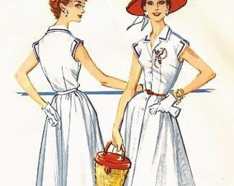 McCall's 4507 Misses' Vintage 1950s Dress Sewing Pattern Sz 16