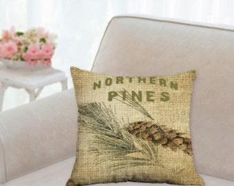Northern Pines Christmas Pillow