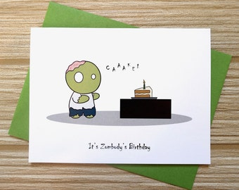 Zombie Birthday Card