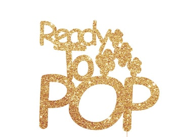 Ready To Pop Baby Shower, Ready To Pop Cake Topper, Popcorn Baby Shower