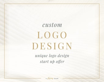 Custom Logo Design - Unique Logo Design - One of a Kind Logo Design - Startup Unique Logo Design
