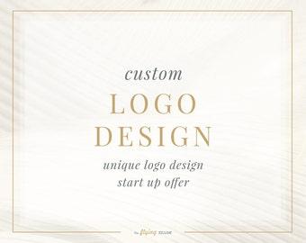 Custom Logo Design - Unique Logo Design - One of a Kind Logo Design - Startup Unique Logo Design