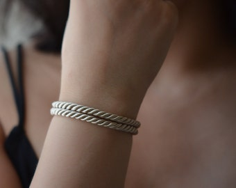 Silk Wrap Bracelet, Silk Rope Bracelet, Silk Jewelry, Modern Everyday Bracelet