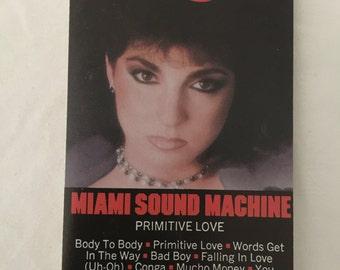 Miami Sound Machine Primitive Love Vintage Audio Cassette Tape 1985 CBS Inc Epic Records FET 40131 Lead Vocals = Gloria Estefan