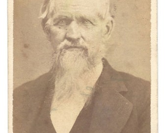 Carte de Visite - Gentleman with Beard - Photographer Will L Hoff - North Side Square - Angola Indiana