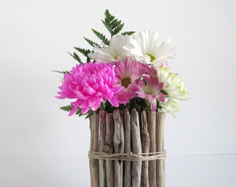 Round Driftwood Vase, Driftwood Centerpiece, Wedding Centerpiece, Candle Holder, Driftwood Vase, Driftwood Decor, Wood Vase