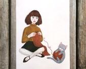 yarn postcard