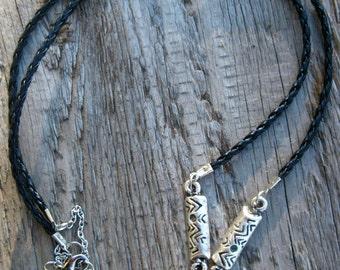 Black Boho Necklace // Tribal Necklace