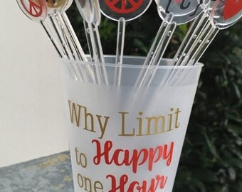 Plastic Drink Stirrers; Swizzle Sticks; Personalized Barware