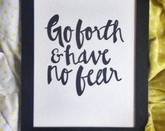 Go forth and have no fear - X Ambassadors lyrics - Original Artwork