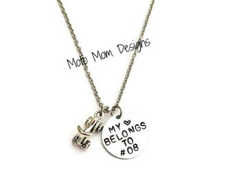 My Heart Belongs to Motocross Necklace - Motocross Jewelry - Dirt Bike - Motocross Gifts - Motocross Necklace - Racing Jewelry - Dirt Track