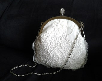 ivory lace wedding clutch ivory bridal clutch ivory. wedding purse ivory bridal  crystal frame wedding clutch