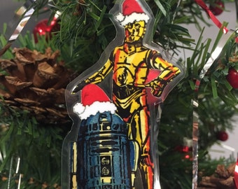 Star Wars - Christmas/Holiday Ornament Decoration R2D2 and C3P0