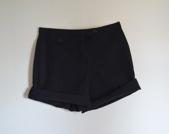 Small Black High Waisted Shorts