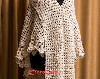 Тutorial crochet shawl pattern, triangle crochet shawl pattern, lace shawl, crochet stole, Crochet tutorial shawl, Instant Download /1009/