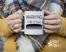 Warning I like to tease Mug, Hair Stylist Gift, Hairdresser Mug, Stylist Gifts, Hairdresser Gift, Coffee Mug, Gifts for Hair Stylists