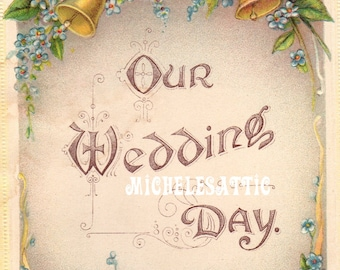 Wedding Day Art Deco  Digital Download