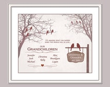 Personalized Grandparents Gift Grandparents Family Tree Gift From Grandchildren Christmas Gift For Grandma and Grandpa Grandmother 8x10PRINT
