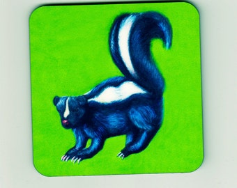 Skunk Square Cork Coaster