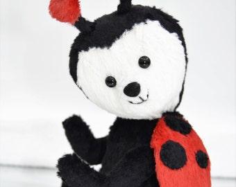 SALE!! Ladybird teddy bear - handmade artist bear with gift box