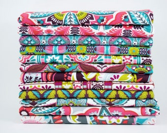 Lottie Collection by Maude Asbury for Blend Fabrics - fat quarter bundle with 12 pieces
