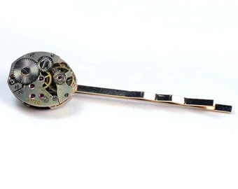 Steampunk Vintage Watch Bobby Pin