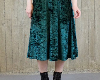 Enchanted Forest Velvet Midi Skirt (made to order)