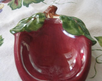 Vintage Franciscan Apple Spoon Rest 1940's
