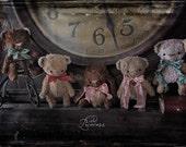 "3.3"" Inch Artist Handmade Ooak TEDDY By OddPrincess, Miniature Teddy, CHOCOLATE Collection, Friend For BLYTHE"