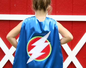 Blue Superhero Cape-PERSONALIZE/CUSTOMIZE Boys Superhero Costume - Choose the Initial - Superhero Birthday Party