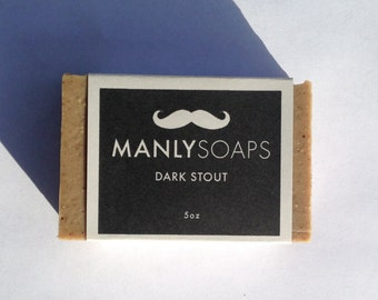 PRE-ORDER Dark Stout Beer Soap by ManlySoaps