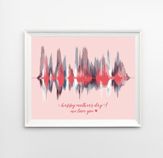 Gifts for mom sound wave art print add by artsyvoiceprint Christmas gift ideas for mom from son