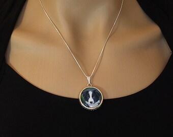 Pet Mom Necklace, Pet photo pendant necklace, custom portrait jewelry, pet photo charm,photo pendant jewelry,custom pet necklace,dog agility