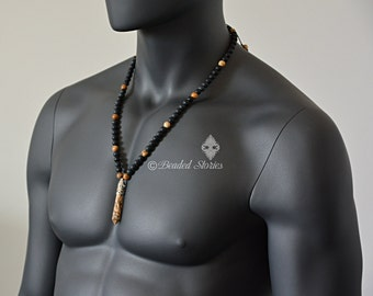 Jewelry for Men - Unique Gifts for Men - Shamballa Necklace - Boyfriend's Gift - Yoga Jewelry - Yoga Necklace for Men - Long Beaded Necklace