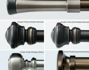 "Drapery Hardware, Kirsch Designer Metals,1 3/8""Pole- Finials,Decorative Drapery Hardware"