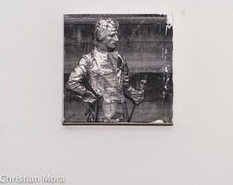 Tin Man 8X8 Gel Transfer on Canvas