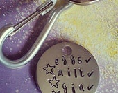 Handstamped Trolley Coin Keychain - Gift - Funny - Trolley Coin - Locker Coin - Token- Keyring - Personalise - Personalize