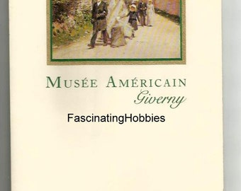 Mint-Musee AMERICAIN GIVERNY- Cardboard leaflet Invitation for the Opening of the Museum by TERRA' s Foundation of Arts with Buffet - 1992 -