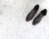 Brown Leather Bandolino Ankle Boots Size 7