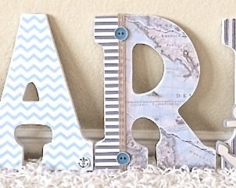 Nursery Wall Letters - Nursery Decor - Wooden Letters Wall Hanging - Wall Art Decor - Custom Wooden name