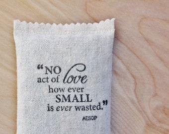 Aesop Quote Lavender Sachet - Unique Teacher Gift - Stress Relief - Desk Decor - Daycare Provider Gifts