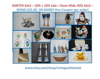 WINTER SALE Total 40% off with Purchase of 25.00 or more See Details.  Do NOT purchase this listing.
