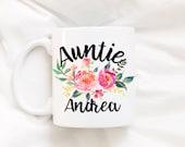 Auntie/New baby/Aunt mug/Aunt coffee mug/coffee mug/coffee cup/mug/cute mug