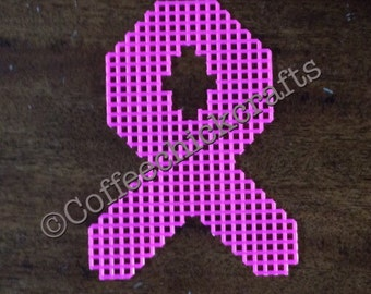 Plastic Canvas Awareness Ribbon Cut Outs Plastic Canvas for Needlepoint ANY COLOR