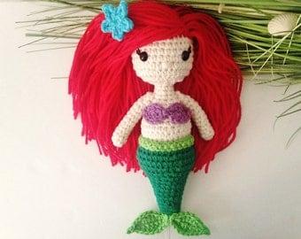 Crochet Ariel Doll / Little Mermaid Inspired Princess Ariel Doll