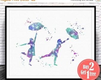 SALE: Umbrella Print, Umbrella art, umbrella wall art, umbrella wall decor, nursery wall decor, Umbrella poster, umbrella, Umbrella art prin