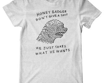 Honey Badger Meme Premium T-Shirt