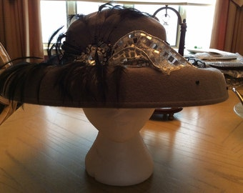 Women Vintage Hat 1950s - Made in USA