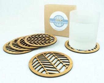 Drinks Coasters - Set of 6 - Chevron Pattern